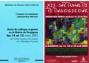 colloques langues régionales 2003-2005