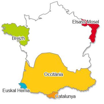 carte des langue régionales